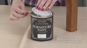 Rustoleum Kitchen Cabinet Paint How To Use Rust Oleum Gloss Finish Furniture Paint Youtube
