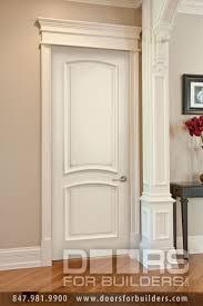 custom paint grade mdf interior powder room door custom wood