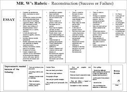 Thematic Essay Rubric For Us History Regents   What are some     ayUCar com HD Image of Waldvogelhistory instructions for dbq rubric sample outline  Regents rubric essay
