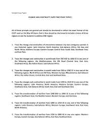 sample essay topic sample essay topics change and continuity over time