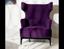 Beautiful Chairs by Chair Purple Fabric Accent Caravana Furniture Velvet Chari Within
