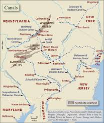 United States Map Delaware by Canals Encyclopedia Of Greater Philadelphia