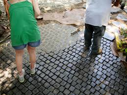 How To Seal A Paver Patio by How To Install A Cobblestone Patio On Concrete Or Bare Soil How