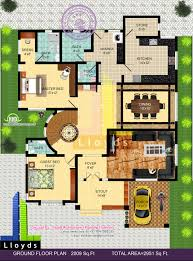 2951 sq ft 4 bedroom bungalow floor plan and 3d view kerala