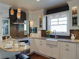 Kitchen Tile Backsplash Design Ideas Amusing Kitchen Table With Bench And Chairs With Kitchen
