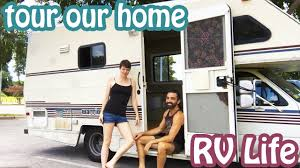 full rv tour minimalists living in tiny mobile home brittany
