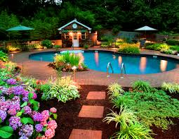 interior exciting swimming pool landscaping ideas backyard