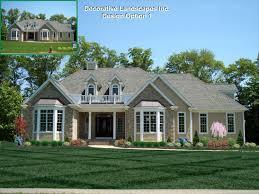 Rancher Style Homes Ranch Style House Landscape Design Ideas House Design Plans