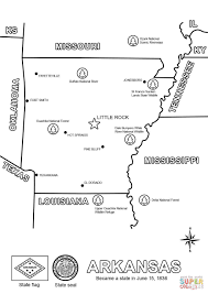 map of arkansas coloring page free printable coloring pages