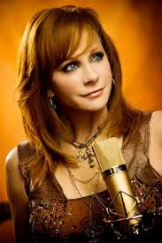 Reba McEntire on the set of