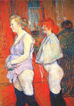 Henri de Toulouse-Lautrec, Rue des Moulins: The medical inspection ...