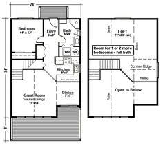 Small Cottage Floor Plan Brookside 844 Sq Ft From The Cabin Series Of Timber Frame Home