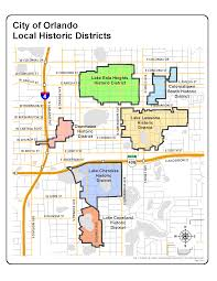 Map Of Downtown Disney Orlando by Local Historic Districts City Of Orlando Geographic Information