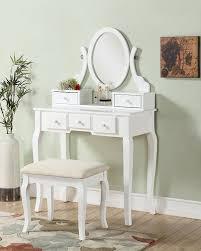 Ashley White Bedroom Furniture Amazon Com Roundhill Furniture Ashley Wood Make Up Vanity Table