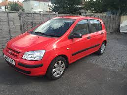 hyundai getz 1 4 petrol 5 door manual hatchback 2005 red fsh
