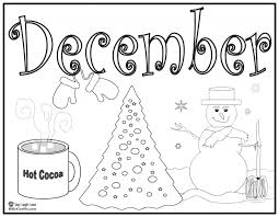 december coloring pages omeletta me