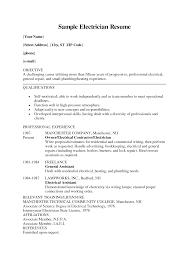 job objective sample resume electrician resume objective free resume example and writing resume example electrician sample resume apprentice electrician resume objective 38 electrician