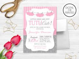 Invitation Cards For Baby Shower Templates Tutu Baby Shower Invitations Kawaiitheo Com