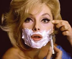 Beauty Women Shaving Face