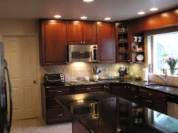 kitchen dark chocolate cabinets cool with cozy appealing mobile