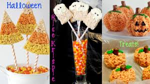 Easy Treats For Halloween Party by Recipe Review Halloween Rice Krispie Treats Pumpkins Ghosts