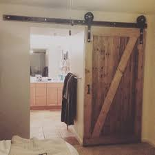 Diy Barn Doors by Homemade Barn Door Youtube