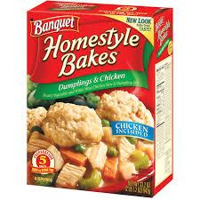 banquet homestyle bakes dumplings u0026 chicken 33 2 oz box walmart com