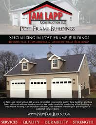 pole building brochures tam lapp construction llc