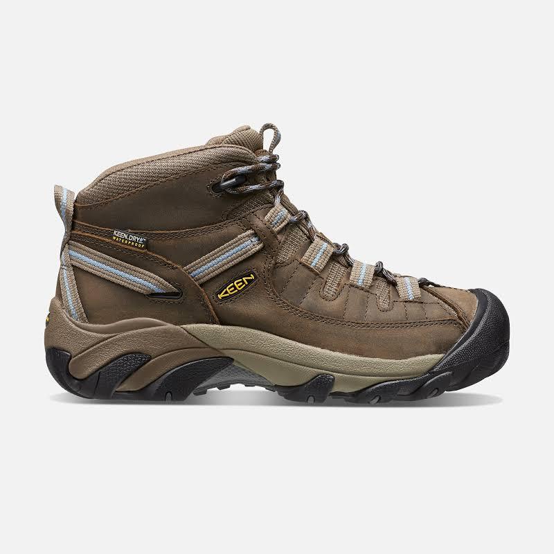 KEEN Targhee II Mid Waterproof Hiking Boots Slate Black/Flint Stone 9.5 US 1004114-200-9.5