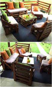 Patio Furniture Wood Pallets - really functional creations with wood pallets wood pallet furniture
