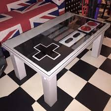 Repurposed Coffee Table by Nintendo Control Pad Solid Wood Coffee Table Nes Gamer