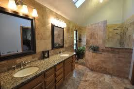 simple small bathroom designs with travertine tiles scheme