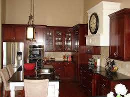 dark cherry kitchen cabinets wall color paint colors for k