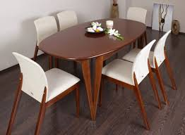dining room table venice extending oval dining table new white