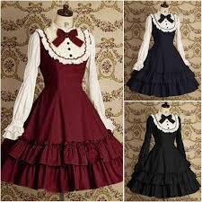 vintage black blue red gothic dress halloween victorian