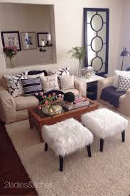 Small Living Room Decorating Ideas Pictures Mar 2 2 Ladies Spring Home Tour Joan U0027s Home Stools Trays And Fur