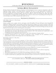 Resume For Hospitality  resume objective examples in hospitality       hotel sales manager