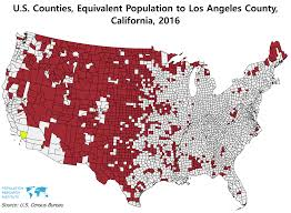 Los Angeles County Map by All These U S Counties Combined Have The Same Population As Los