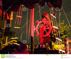 halloween haunted pirate ship on front yard stock photo image