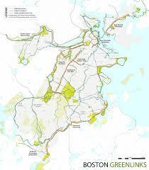 Map Of Boston Neighborhoods by Boston Green Links Boston Gov