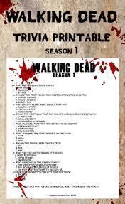 Halloween Quiz Printable by Memory Test Walking Dead Season 4 Trivia Printable