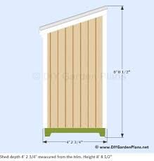 Free Saltbox Wood Shed Plans by 4 8 Lean To Shed Plans