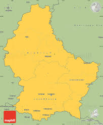 Luxembourg Map Savanna Style Simple Map Of Luxembourg