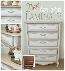 How To Paint Veneer Kitchen Cabinets 2 Best Ways To Paint Laminate Furniture Salvaged Inspirations