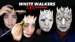 spirit halloween game of thrones sfx makeup tutorial white walkers game of thrones makeup special