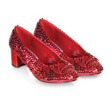 judy red sequin child low heels shoes girls fancy dress up