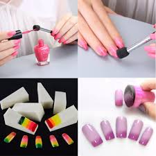 nail art diy sponge pen stamp buffer stamping polish transfer