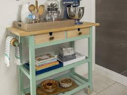 Kitchen Cart Ideas How To Trick Out A Rolling Kitchen Cart Hgtv