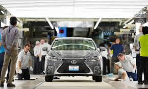 lexus japanese models at lexus u0027 u s plant cars get caressed
