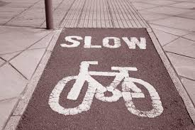 Cycle Lane in Urban Setting in Black and White Sepia Tone eHarmony